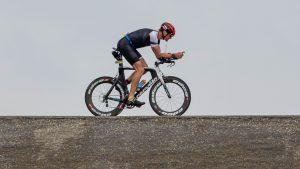 Iron Len triathlete at the Brouwersdam 90 triathlon 2019