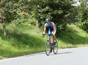 Ironman 70.3 Zell am See 2017 cycling through the Alps