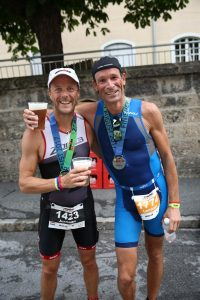 Ironman 70.3 Zell am See 2017 - Happy after the finish