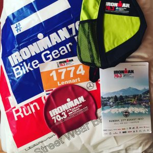 Ironman 70.3 Zell am See 2017 race number, bags, etc