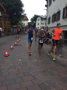 Ironman 70.3 Zell am See 2017 - almost at the finish line!!!