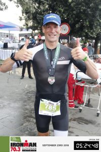 Ironman 70.3 Koper Slovenia 2018 - Happy after the finish