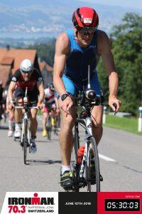 Ironman 70.3 Rapperswil-Jona 2018 - Climbing on the bike route