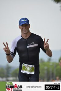Ironman 70.3 Koper Slovenia 2018 - trying to be happy during the run