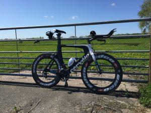 Cervelo P3 triathlon bike with Edco aerodynamic carbon wheels