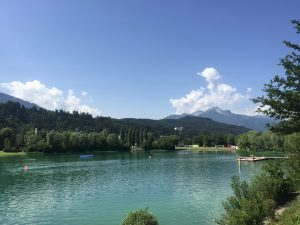 Baggersee in Innsbruck Austria. Great for swimming, water sports and relaxing