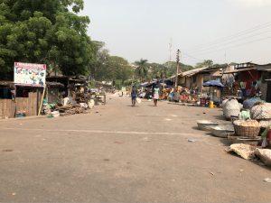 Random street in Takoradi Ghana