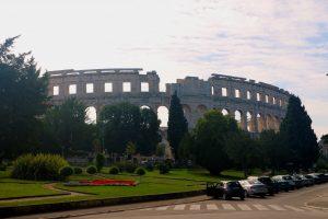 Pula Croatia Amphitheater from the street