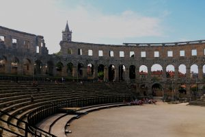 Pula Croatia Amphitheater from the inside