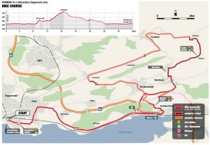 Ironman 70.3 Rapperswil-Jona Bike course