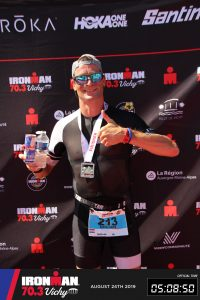 Ironman 70.3 Vichy France 2019 - Happy after the finish