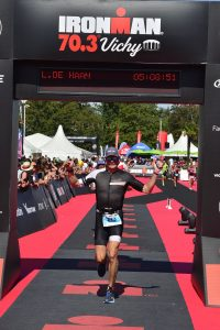 Ironman 70.3 Vichy France 2019 - Crossing the finish line!