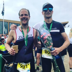 Brouwersdam 90 triathlon after finish