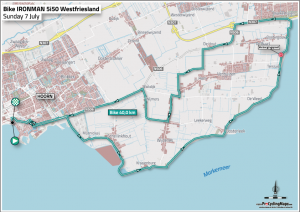 Ironman 5051 West-Friesland Hoorn - bike route 2019