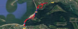 Brouwersdam 90 triathlon 2019 - bike route