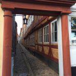 Little alley in Helsingor Denmark