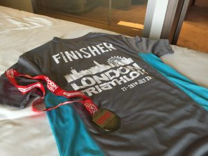 London Westminster Triathlon 2019 - Finisher T-Shirt and medal