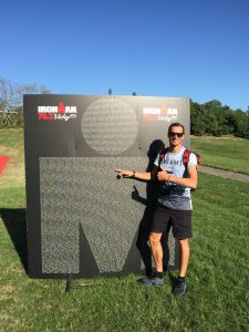 Ironman 70.3 Vichy France 2019 - name in the M dot