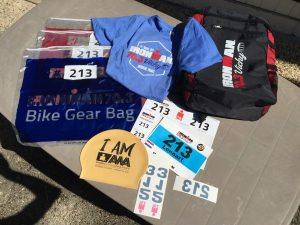 Ironman 70.3 Vichy France 2019 - backpack number shirt