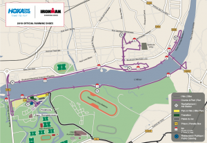 Ironman 70.3 Vichy France - running course