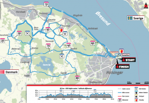 Ironman 70.3 Elsinore Denmark 2019 bike route 2019 overview