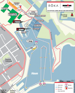 Ironman 70.3 swim course overview