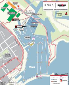 Ironman 70.3 Elsinore Denmark 2019 swim course overview