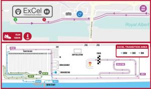 London Westminster triathlon - Excel transition area