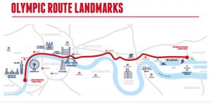 London Westminster triathlon - Olympic Distance landmarks