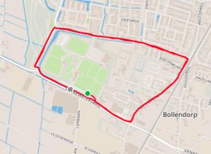 Terriers 1:8 Triathlon 2019 - Run loop around the hockeyclub premises
