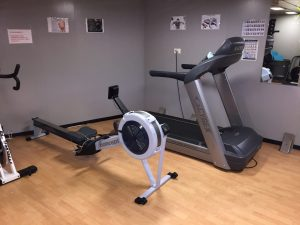 Gym on board of the vessel