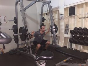 Weight training on board of the vessel