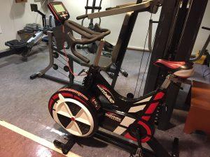 Wattbike indoor bike trainer on board