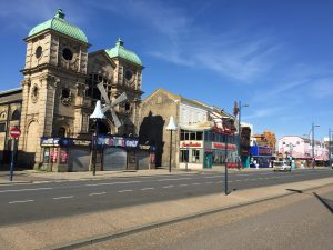Great Yarmouth UK completely vacated streets