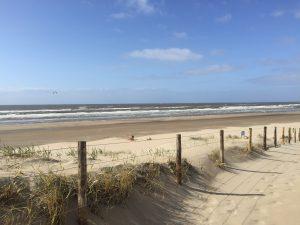 Beach of IJmuiden NL during run training