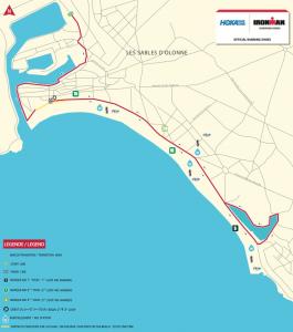 Ironman 70.3 Les Sables d'Olonne - run route