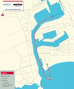 Ironman 70.3 Les Sables d'Olonne - swim route
