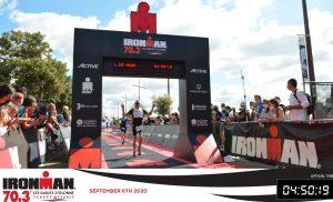 Ironman 70.3 Les Sables d'Olonne 2020 - Finish crossing