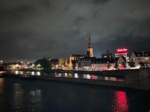 Ironman 5150 Maastricht 2020 - Bridge center by night