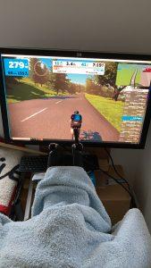 Zwift bike workout at home