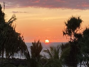 Comores sunset in sea