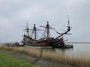 Old VOC wooden ship Batavia in Lelystad, the Netherlands