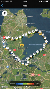 Long bike ride around the Markermeer