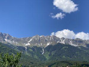 Nordkette seen from Innsbruck city