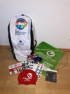Challenge Walchsee triathlon - backpack, start number, etc