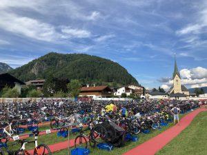 Challenge Walchsee triathlon - Race Day transition zone