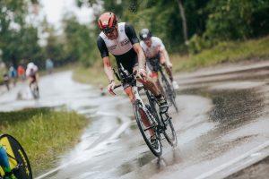 Ironman 70.3 Gdynia - very wet bike conditions