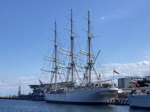 Dar Mlodziezy - a tallship in the harbour of Gdynia