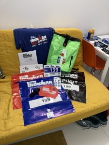 Start package of the Ironman 70.3 Gdynia