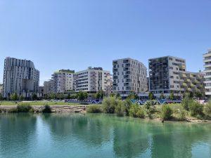 Completely new suburb Seestadt in Vienna Austria